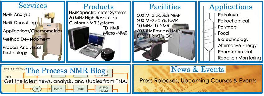 A process analytical consulting company and testing laboratory with over 40 years combined experience in the field of nuclear magnetic resonance spectroscopy - NMR.  Established in 1997, our laboratory supports the activities of over 300 businesses.  We specialize in the application of high resolution NMR spectroscopy to online applications in the refining, petrochemical, pharmaceutical, and food industries.  These applications enable real-time control and optimization of production plan processes that lead to cost savings for the customer.